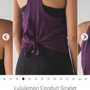 Lululemon Conduit Singlet open back tank